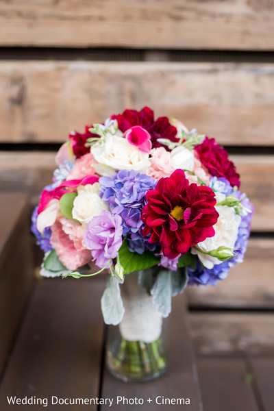 Bridal Bouquet in Pleasanton, CA Fusion Wedding by Wedding Documentary Photo + Cinema