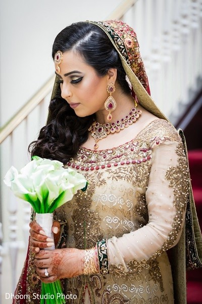 Bridal Portrait in Iselin, NJ Pakistani Wedding by Dhoom Studio Photo & Video