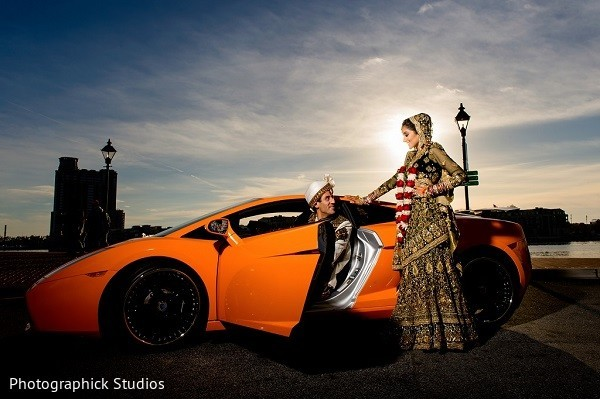 Wedding Portrait in Baltimore, MD Indian Wedding by Photographick Studios