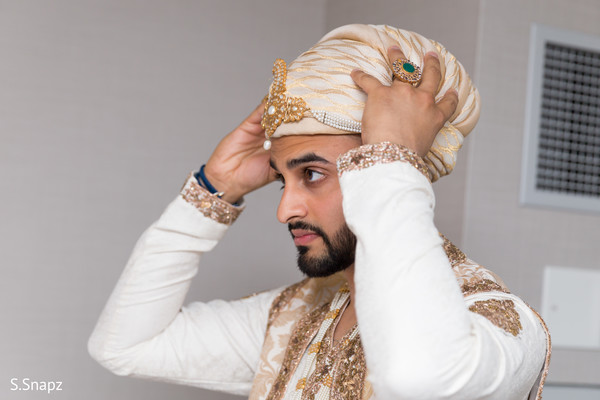 Groom Getting Ready in North Haledon, NJ Pakistani Wedding by S.Snapz