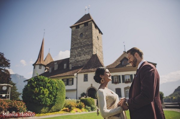 Wedding Portrait in Bern, Switzerland Sikh Fusion Destination Wedding by Monica Tarocco Photography