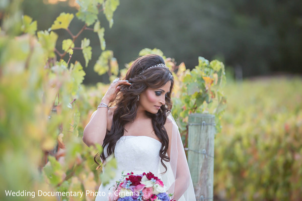 Bridal Portraits in Pleasanton, CA Fusion Wedding by Wedding Documentary Photo + Cinema