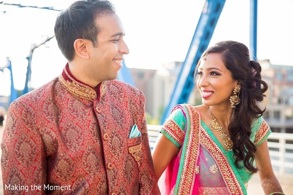 Sangeet Portrait in Grand Rapids, MI Indian Wedding by Making the Moment