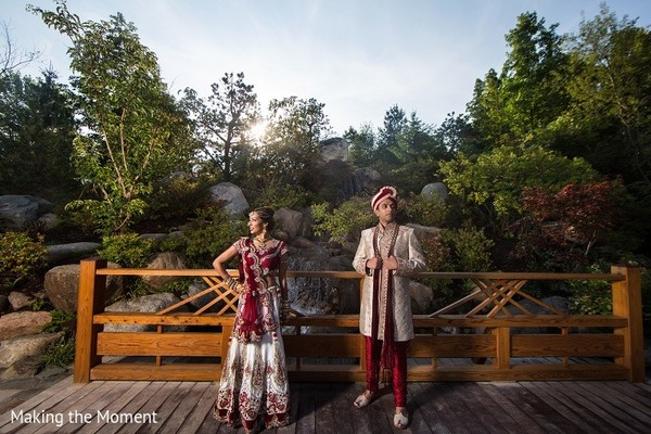 First Look in Grand Rapids, MI Indian Wedding by Making the Moment