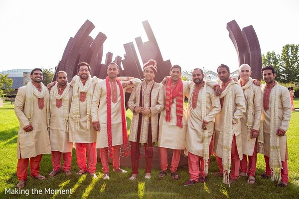 Groomsmen in Grand Rapids, MI Indian Wedding by Making the Moment