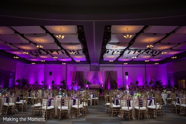 Venue & Lighting in Grand Rapids, MI Indian Wedding by Making the Moment