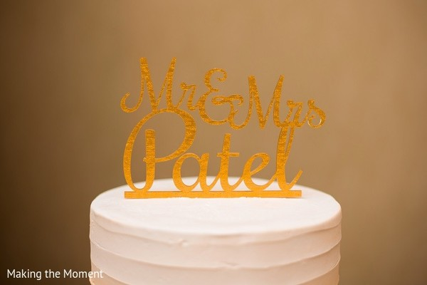 Cake Topper in Grand Rapids, MI Indian Wedding by Making the Moment