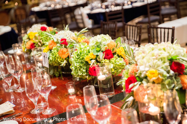 Sangeet Centerpieces in Pleasanton, CA Fusion Wedding by Wedding Documentary Photo + Cinema