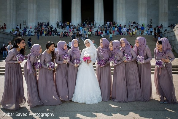 Bridal Party in Washington, D.C. South Asian Wedding by Akbar Sayed Photography