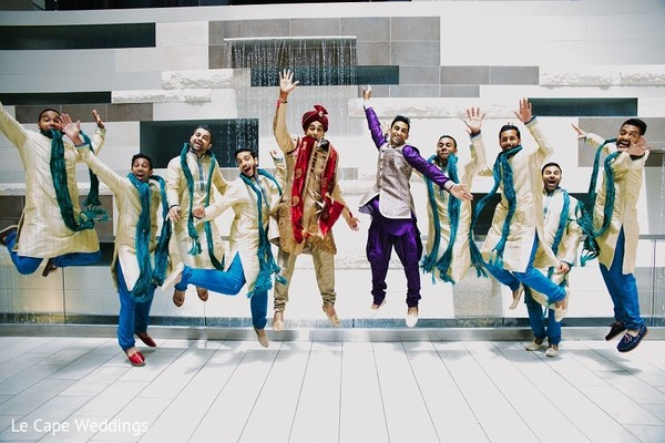 Groomsmen in Indianapolis, IN Indian Wedding by Le Cape Weddings