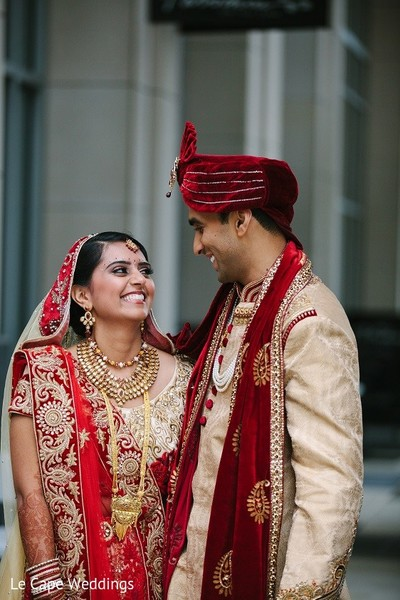 First Look in Indianapolis, IN Indian Wedding by Le Cape Weddings