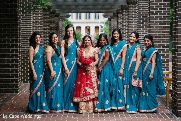 Bridal Party in Indianapolis, IN Indian Wedding by Le Cape Weddings