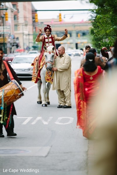 Baraat in Indianapolis, IN Indian Wedding by Le Cape Weddings