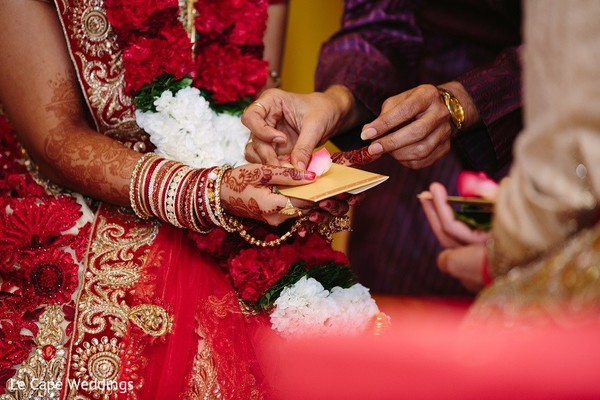 Ceremony in Indianapolis, IN Indian Wedding by Le Cape Weddings