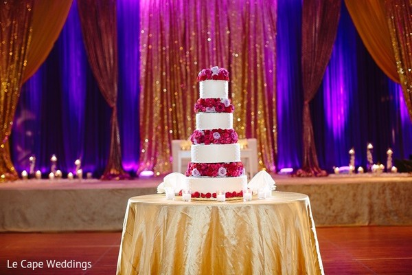 Wedding Cake in Indianapolis, IN Indian Wedding by Le Cape Weddings
