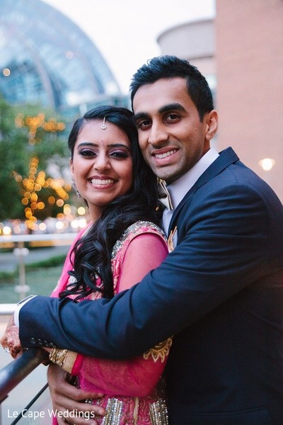 Reception Portrait in Indianapolis, IN Indian Wedding by Le Cape Weddings