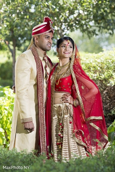 First Look in Princeton, NJ Indian Wedding by MaxPhoto NY