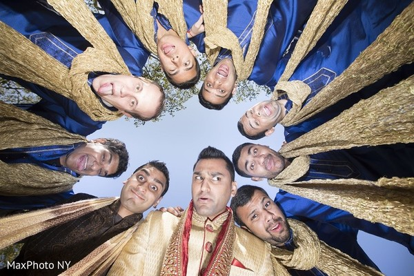 Groomsmen in Princeton, NJ Indian Wedding by MaxPhoto NY