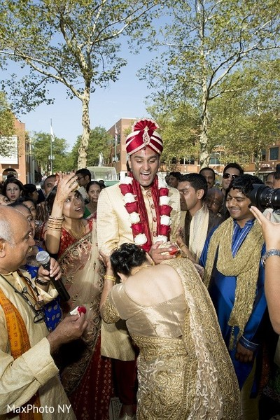 Baraat in Princeton, NJ Indian Wedding by MaxPhoto NY