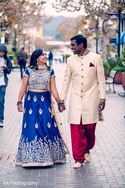 Pre-Wedding Portrait in Carmel, CA Indian Wedding by VA Photography