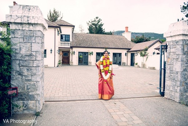 Bridal Portrait in Carmel, CA Indian Wedding by VA Photography
