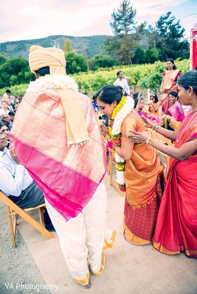 Ceremony in Carmel, CA Indian Wedding by VA Photography