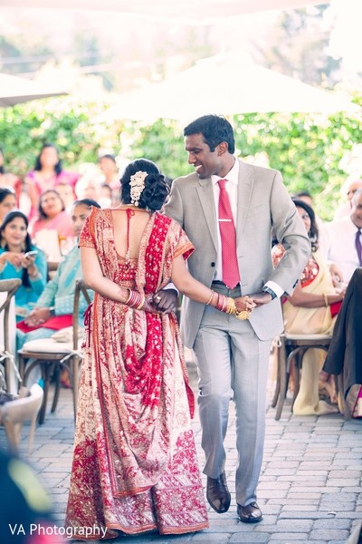 Reception in Carmel, CA Indian Wedding by VA Photography