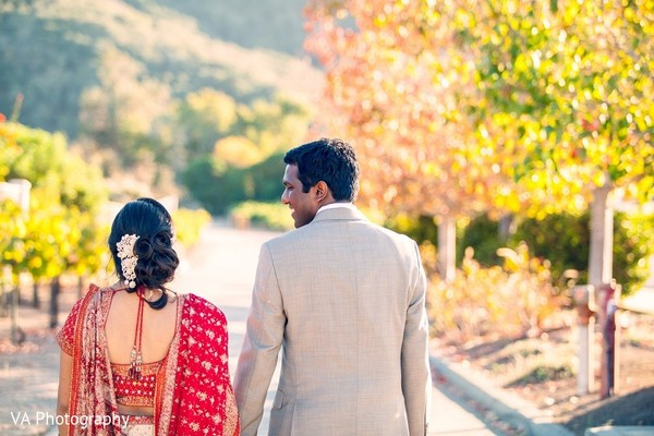 Reception Portrait in Carmel, CA Indian Wedding by VA Photography