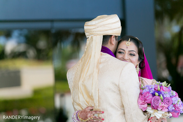 First Look in Costa Mesa, CA Indian Wedding by RANDERYimagery
