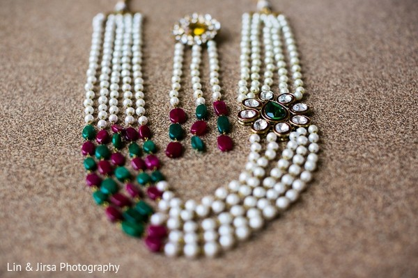 Bridal Jewelry in Huntington Beach, CA Indian Wedding by Lin & Jirsa Photography