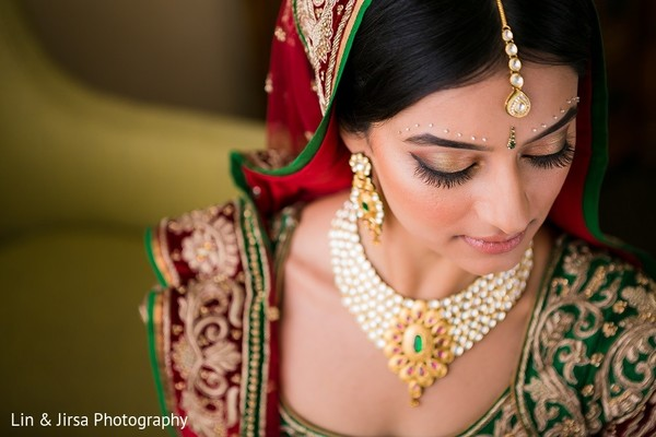 Makeup in Huntington Beach, CA Indian Wedding by Lin & Jirsa Photography