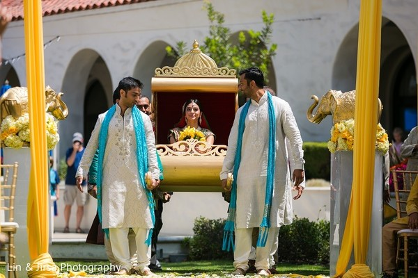 Ceremony in Huntington Beach, CA Indian Wedding by Lin & Jirsa Photography