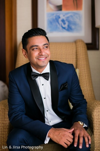 Groom Fashion in Huntington Beach, CA Indian Wedding by Lin & Jirsa Photography