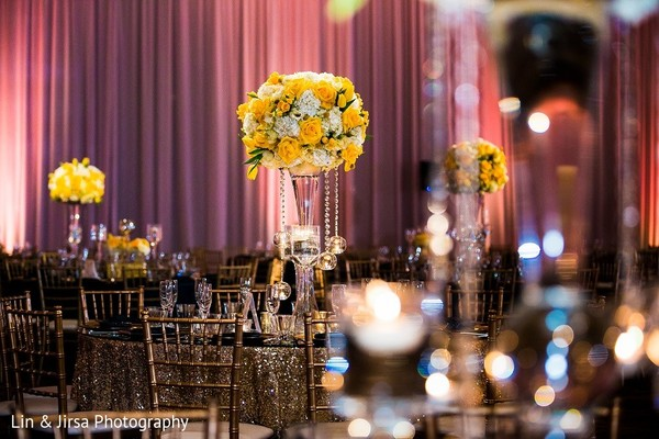 Floral & Decor in Huntington Beach, CA Indian Wedding by Lin & Jirsa Photography