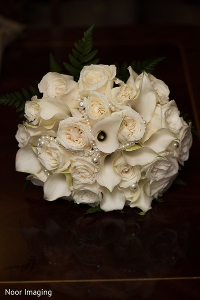 Bouquet in Bethpage, NY South Asian Wedding by Noor Imaging