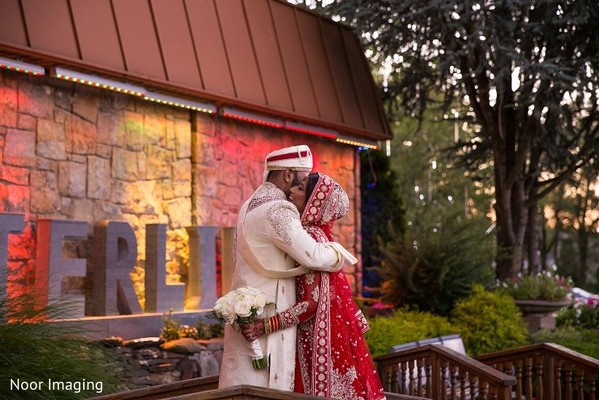 First Look in Bethpage, NY South Asian Wedding by Noor Imaging