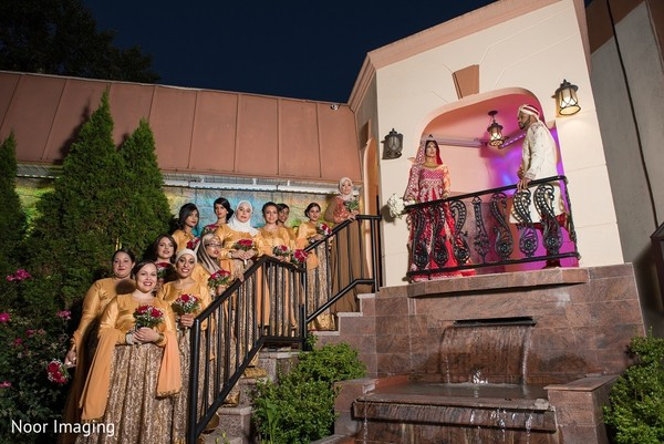 Bridal Party in Bethpage, NY South Asian Wedding by Noor Imaging