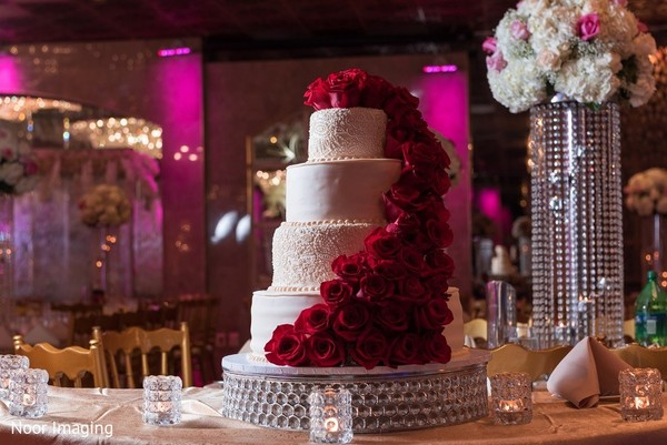 Wedding Cake in Bethpage, NY South Asian Wedding by Noor Imaging
