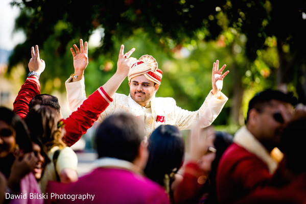 Baraat in Camarillo, CA Indian Wedding by Dawid Bilski Photography