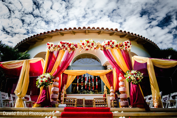 Outdoor Mandap in Camarillo, CA Indian Wedding by Dawid Bilski Photography