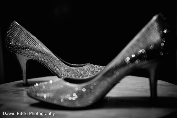 Reception Shoes in Camarillo, CA Indian Wedding by Dawid Bilski Photography