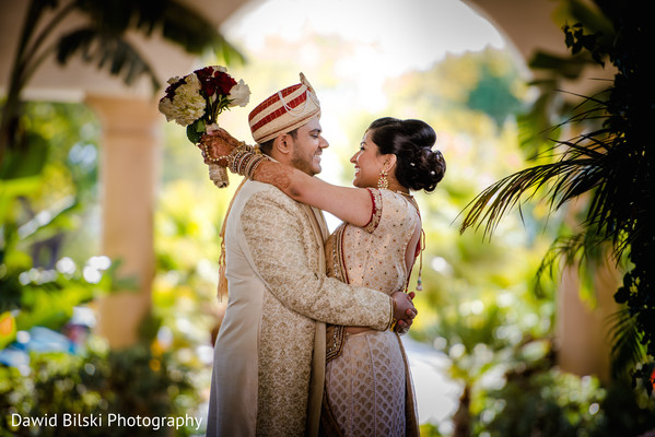 First Look Portraits in Camarillo, CA Indian Wedding by Dawid Bilski Photography