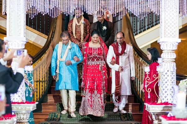 Ceremony in Collingswood, NJ Indian Wedding by KSD Weddings