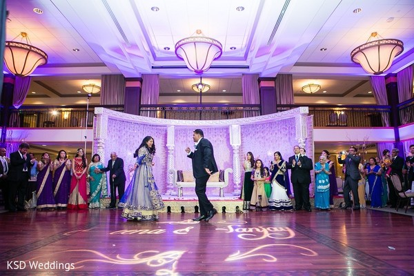 Reception in Collingswood, NJ Indian Wedding by KSD Weddings