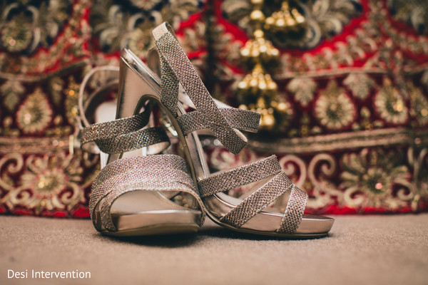 Bridal Shoes in Sacramento, CA Sikh Wedding by Desi Intervention
