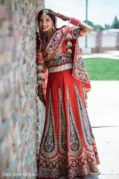 Bridal Portraits in Sacramento, CA Sikh Wedding by Desi Intervention