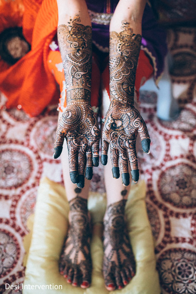 Mehndi Hands and Feet in Sacramento, CA Sikh Wedding by Desi Intervention