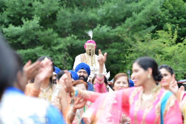 Baraat in Woodbury, NY Sikh Wedding by Vaaho Photographers