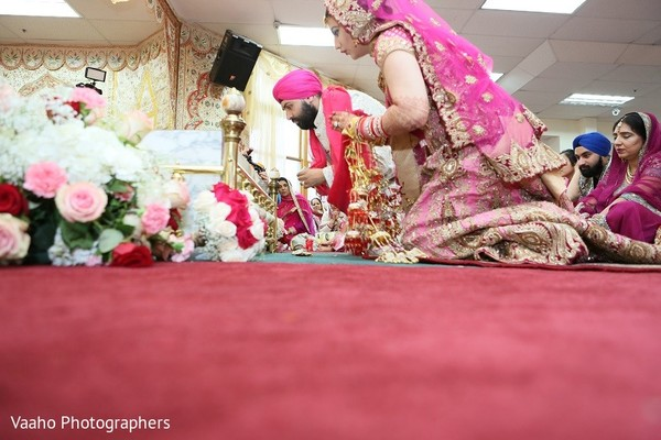 Ceremony in Woodbury, NY Sikh Wedding by Vaaho Photographers