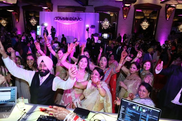 Reception in Woodbury, NY Sikh Wedding by Vaaho Photographers